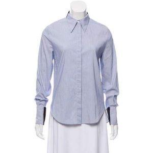 3.1 Phillip Lim Blue Dress Shirt Zip Cuff